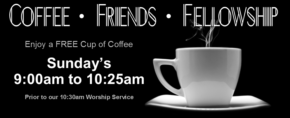 Coffee Friends Fellowship Black and White