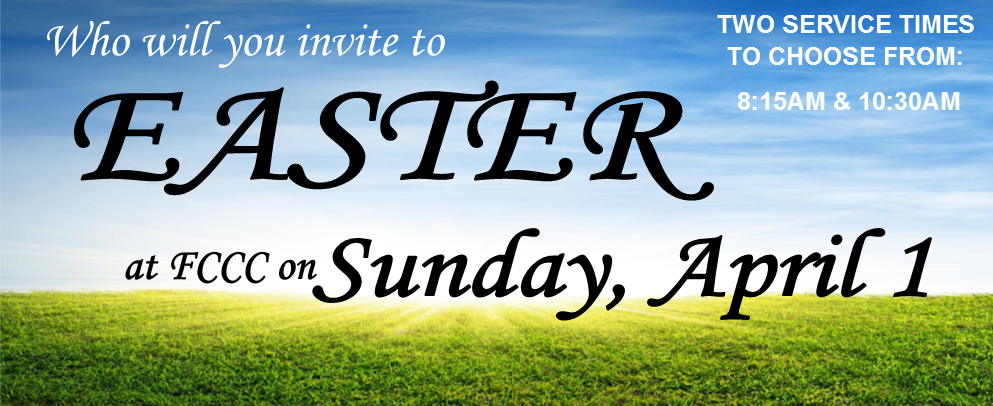 Easter Banner with Blue Sky and Green Grass
