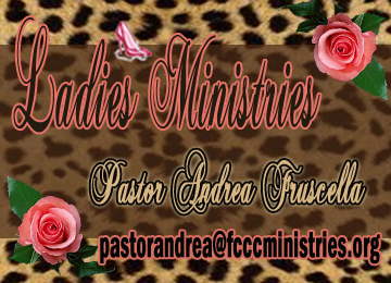 Ladies Ministries Banner Brown Leopard print