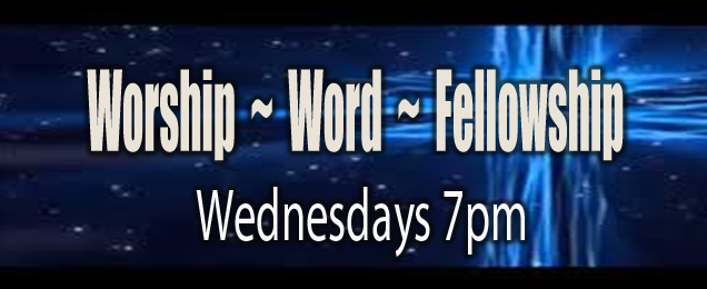 Worship-Word-Fellowship Wed - Blue