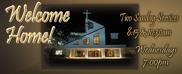 Welcome Home 2018 Front of Church Night Enhanced